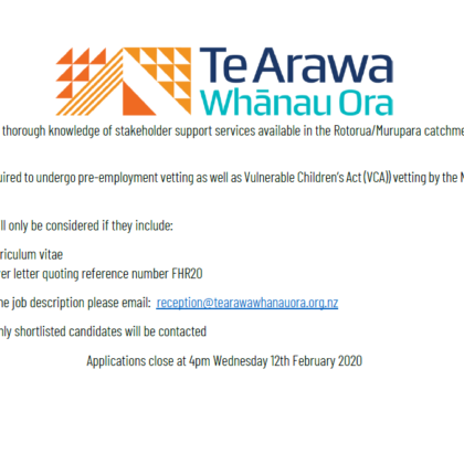 Paeārahi positions available